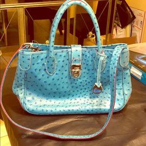 Blue Ostrich Leather Medium Dooney & Bourke Bag